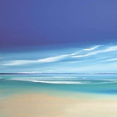 Infinite blue i boxed canvas ~ Jonathan Shaw
