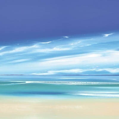 Infinite blue ii boxed canvas ~ Jonathan Shaw