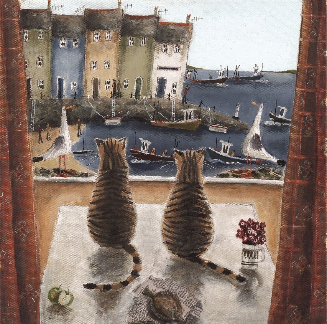 Checking the Catch (Canvas) ~ Rebecca Lardner