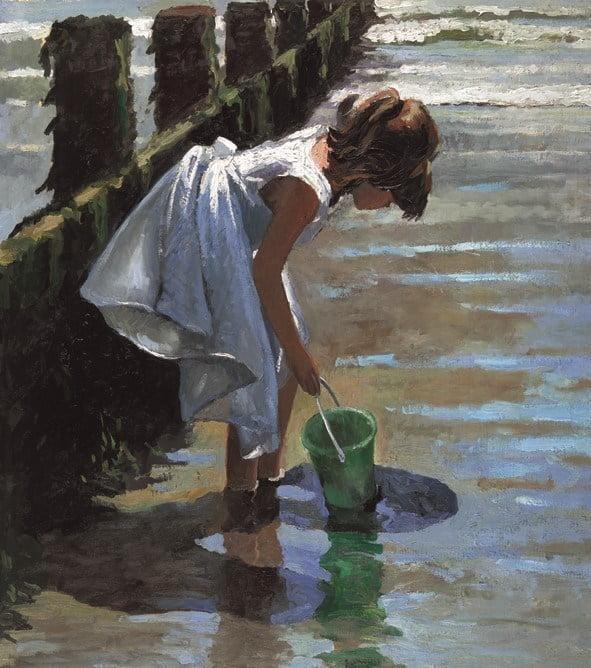 Green bucket ~ Sherree Valentine Daines