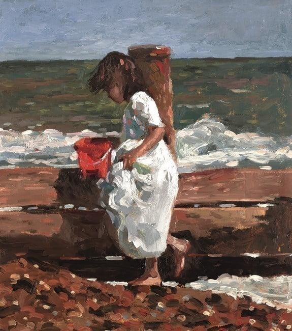 Red bucket ~ Sherree Valentine Daines
