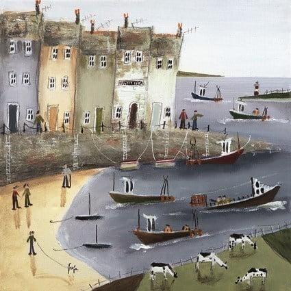Quayside I (Canvas) ~ Rebecca Lardner