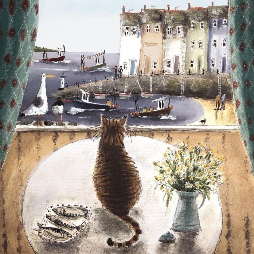 When the boat comes in (canvas) ~ Rebecca Lardner