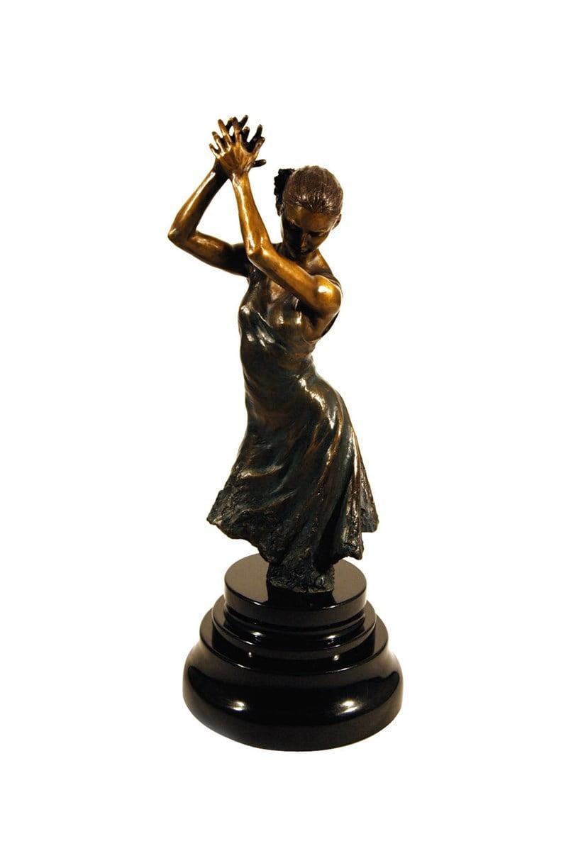 Flamenco dancer (ornate base) bronze sculpture - p ~ Fabian Perez