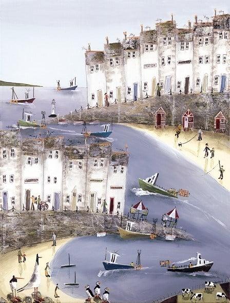 Harbour happenings i (canvas) ~ Rebecca Lardner