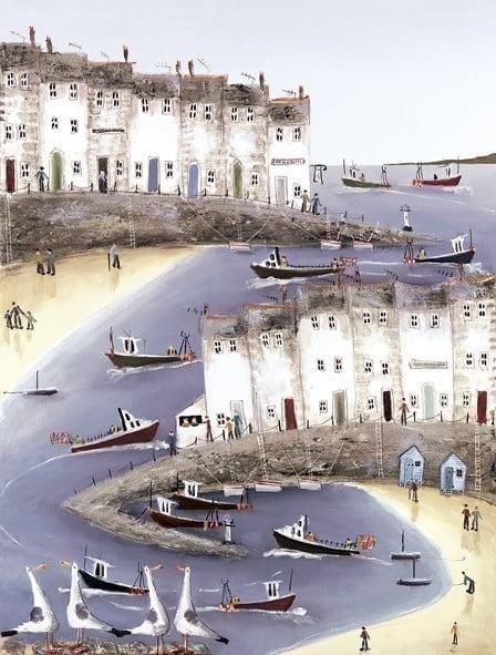 Harbour happenings ii (canvas) ~ Rebecca Lardner