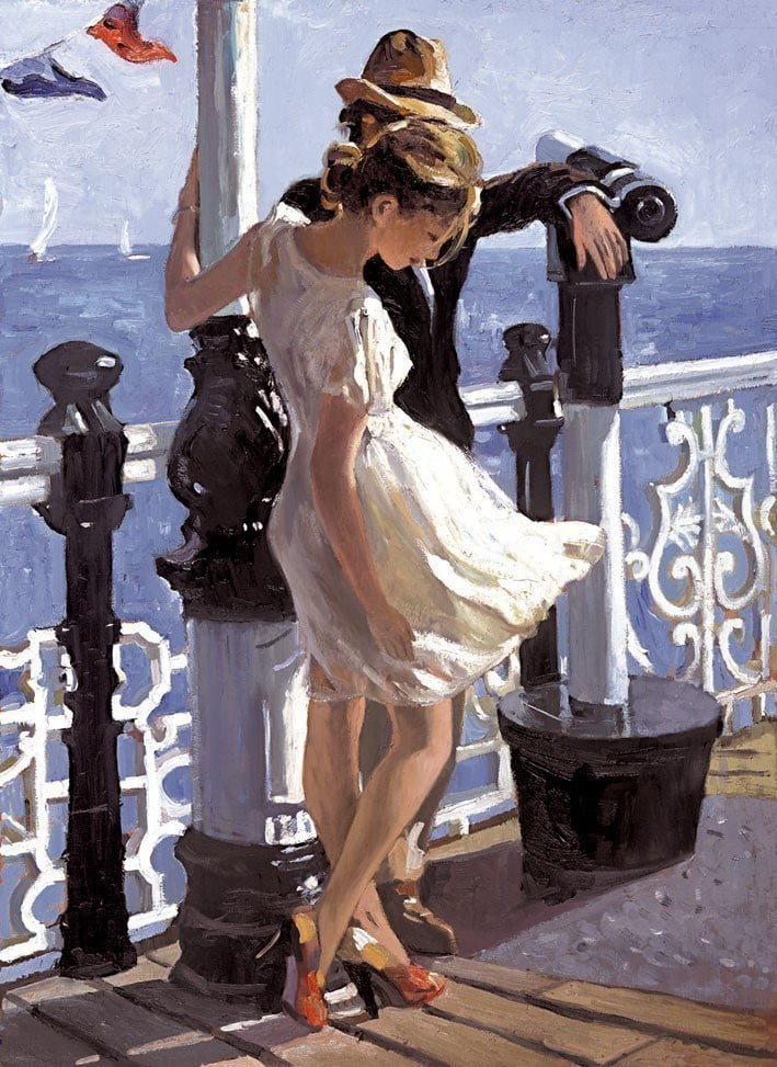 Strolling along the Pier ~ Sherree Valentine Daines