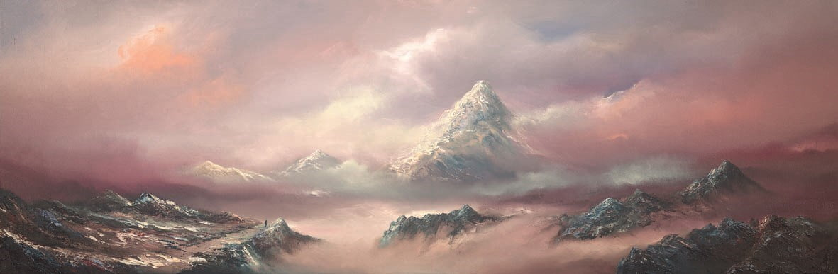 Above the clouds (canvas) ~ Philip Gray