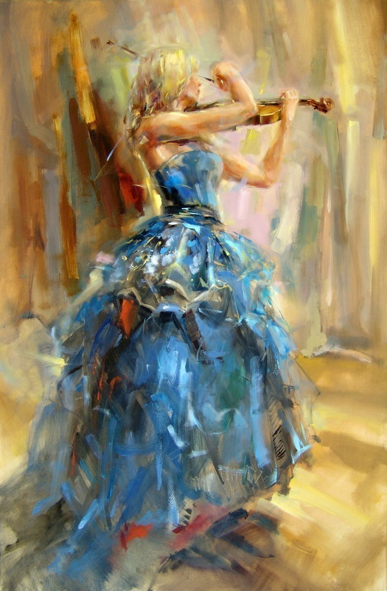 Dancing with violin ii (deluxe canvas) ~ Anna Razumovskaya