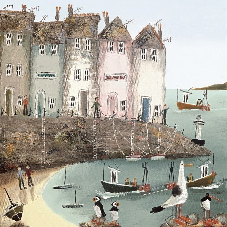 Seaside stories i (canvas) ~ Rebecca Lardner