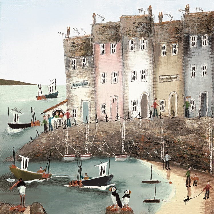 Seaside stories ii (canvas) ~ Rebecca Lardner
