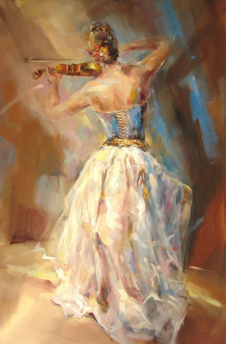 Blue note iii (deluxe canvas) ~ Anna Razumovskaya