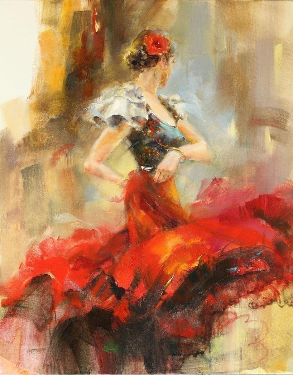 Rhapsody of Red II (Deluxe Canvas) ~ Anna Razumovskaya