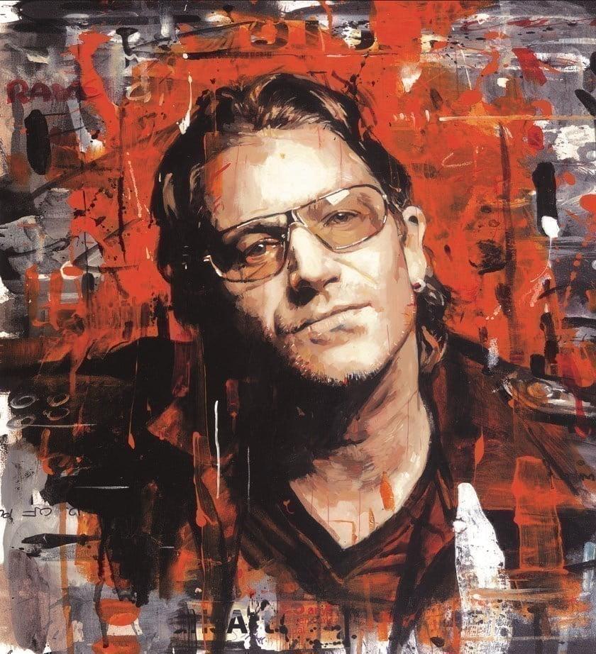 Rock Star - Bono (Deluxe Box Canvas) ~ Zinsky