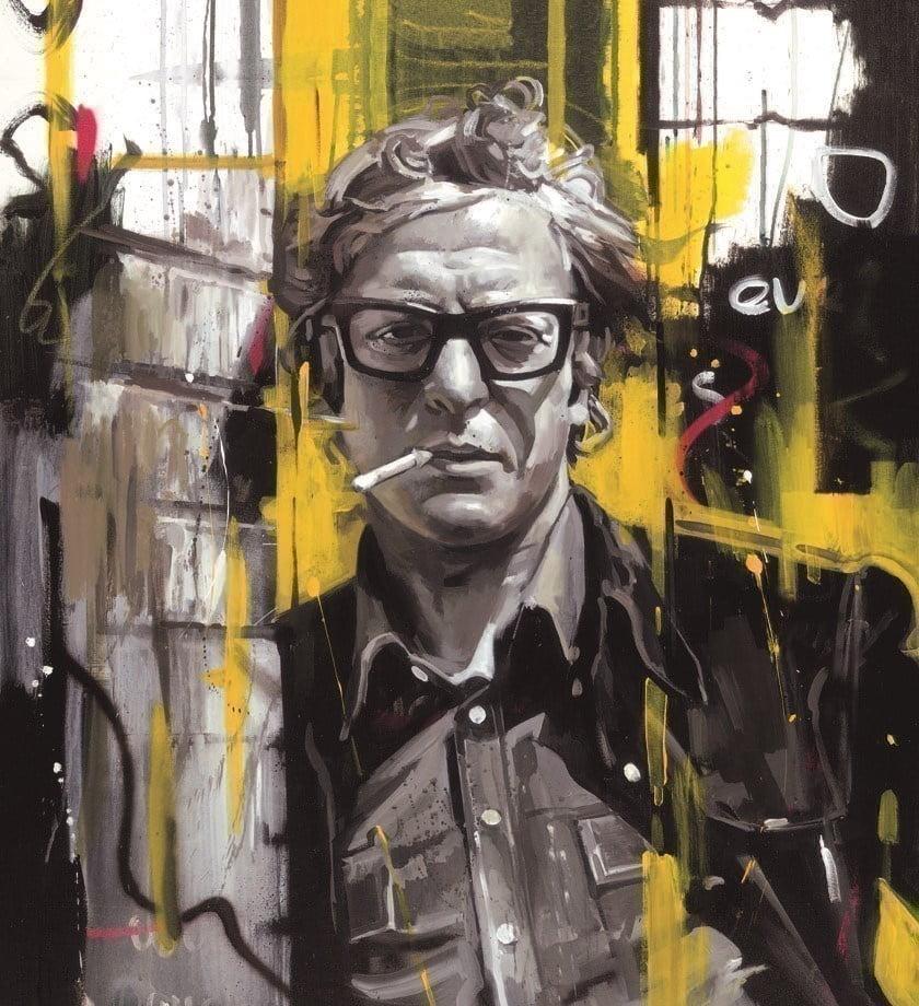 Sixties style - michael caine (box canvas) ~ Zinsky