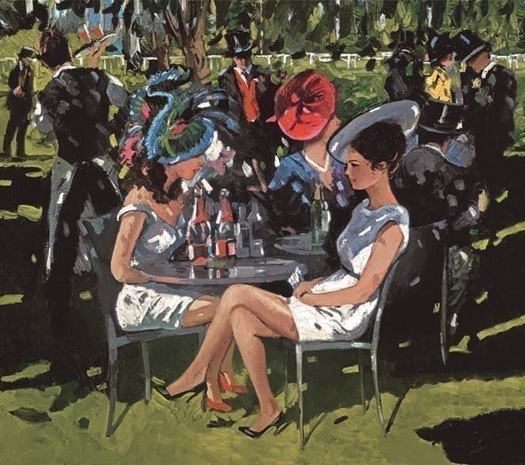 Champagne on the lawn ~ Sherree Valentine Daines
