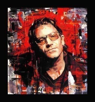 Rock Star - Bono (Canvas) ~ Zinsky