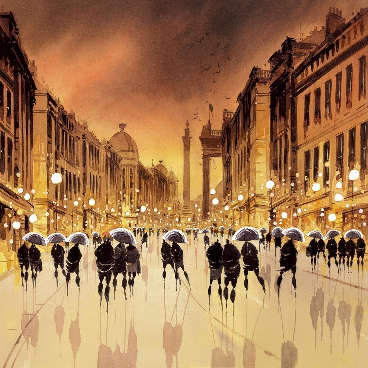Grey street reflections ~ Peter J Rodgers