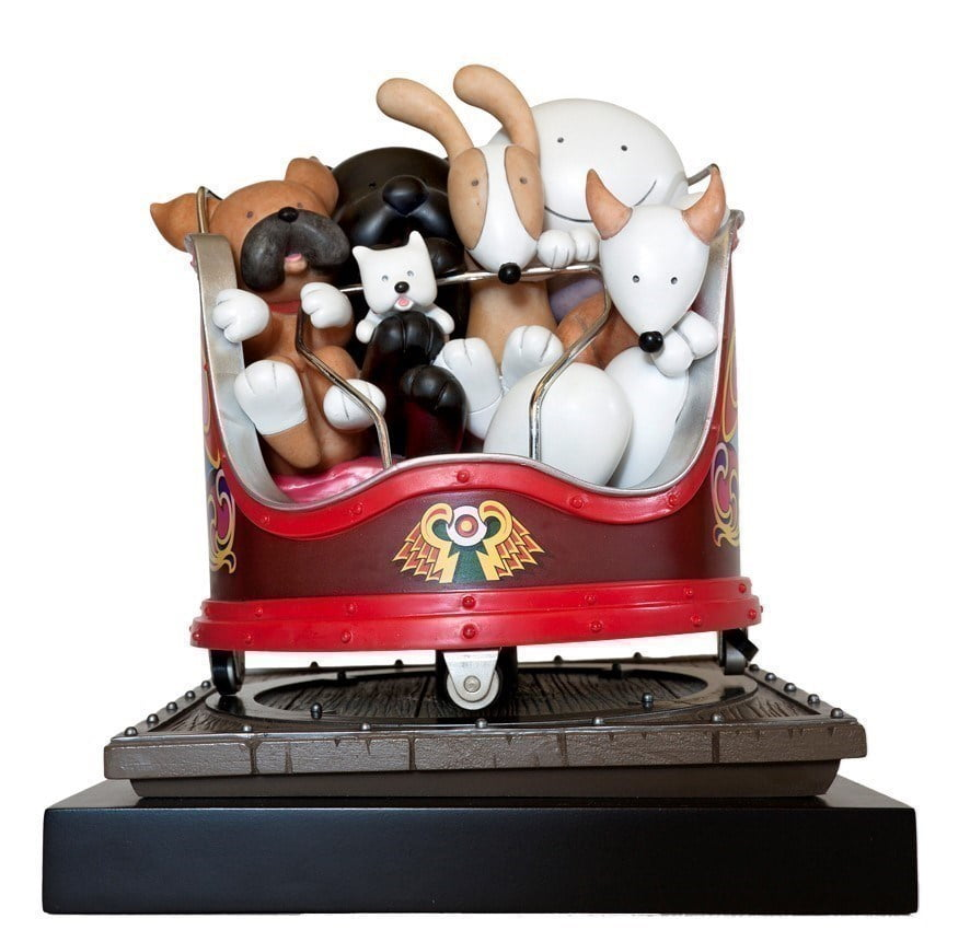 Fancy a spin (sculpture) ~ Doug Hyde