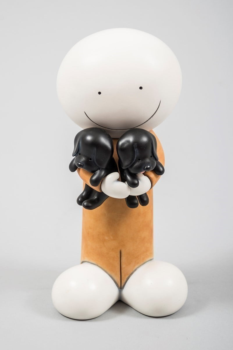 Puppy love (sculpture) ~ Doug Hyde