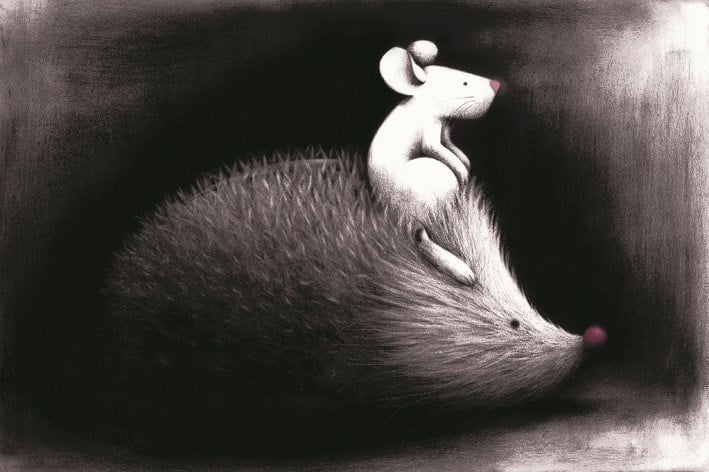 Ramblers (mouse on hedgehog - paper) - hyde (expor ~ Doug Hyde