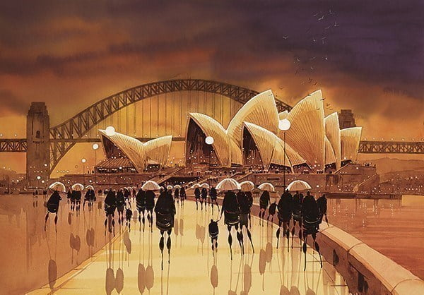 Harbour reflections, sydney (opera house) (paper) ~ Peter J Rodgers