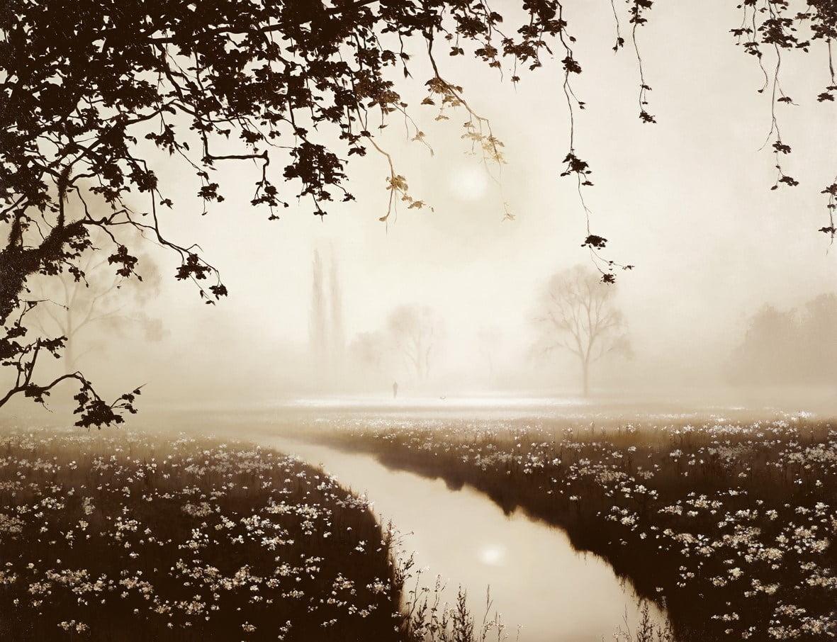 Riverbank Stroll ~ John Waterhouse