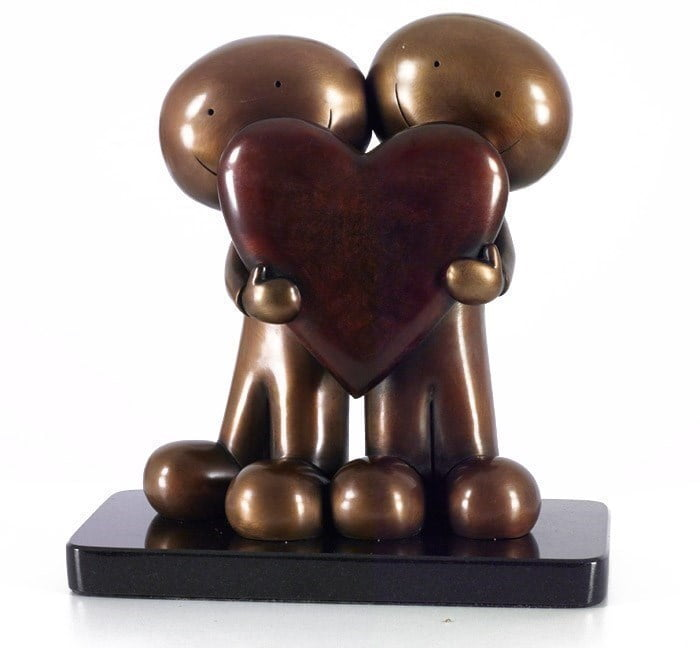 I Love You This Much II (Sculpture Bronze) ~ Doug Hyde