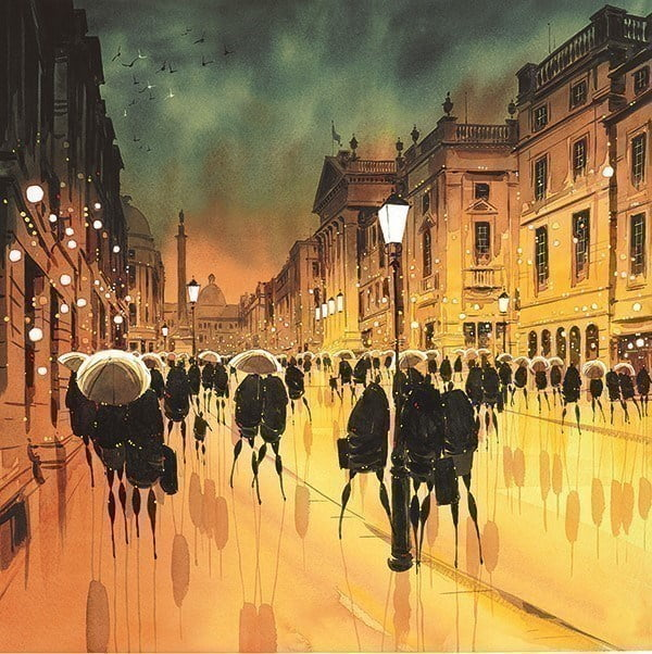 Twilight Facade, Grey Street ~ Peter J Rodgers