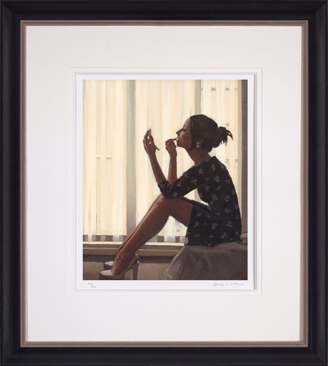 Only the Deepest Red ~ Jack Vettriano