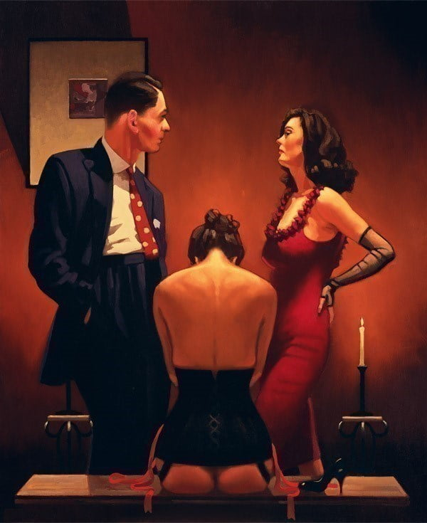 Scarlet Ribbons ~ Jack Vettriano