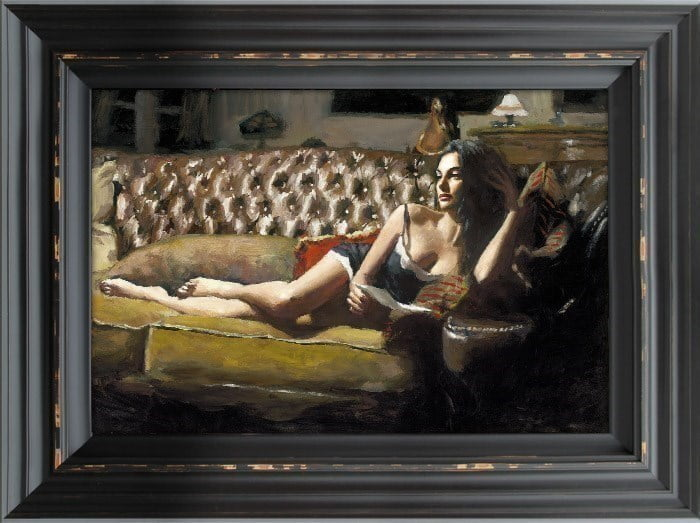 Study for Saba with Letter V ~ Fabian Perez