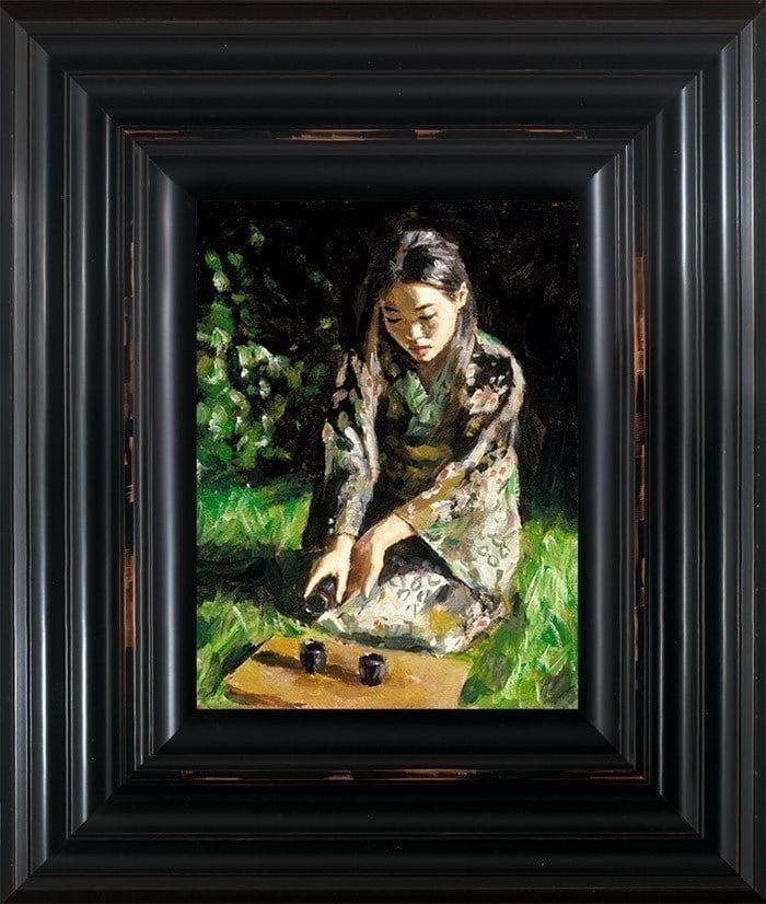Geisha Pouring Sake ~ Fabian Perez