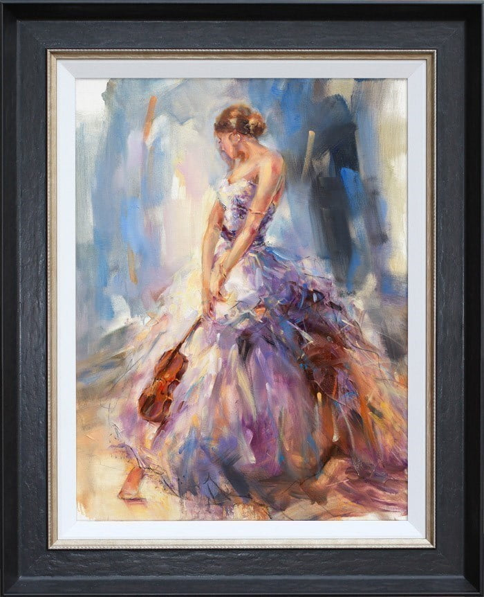 Flirting With a Violin ~ Anna Razumovskaya