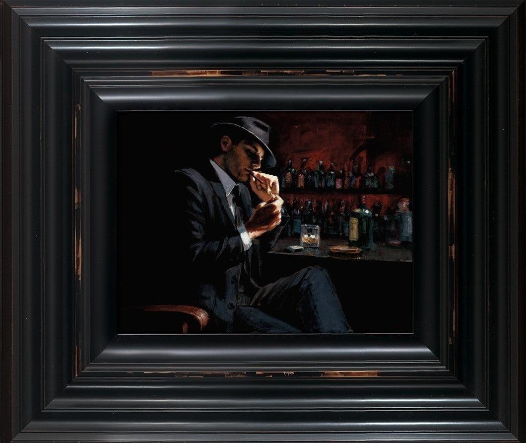 Man Lighting Cigarette III ~ Fabian Perez