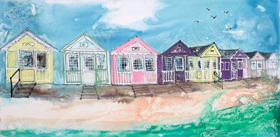 Beach Huts II ~ Katharine Dove