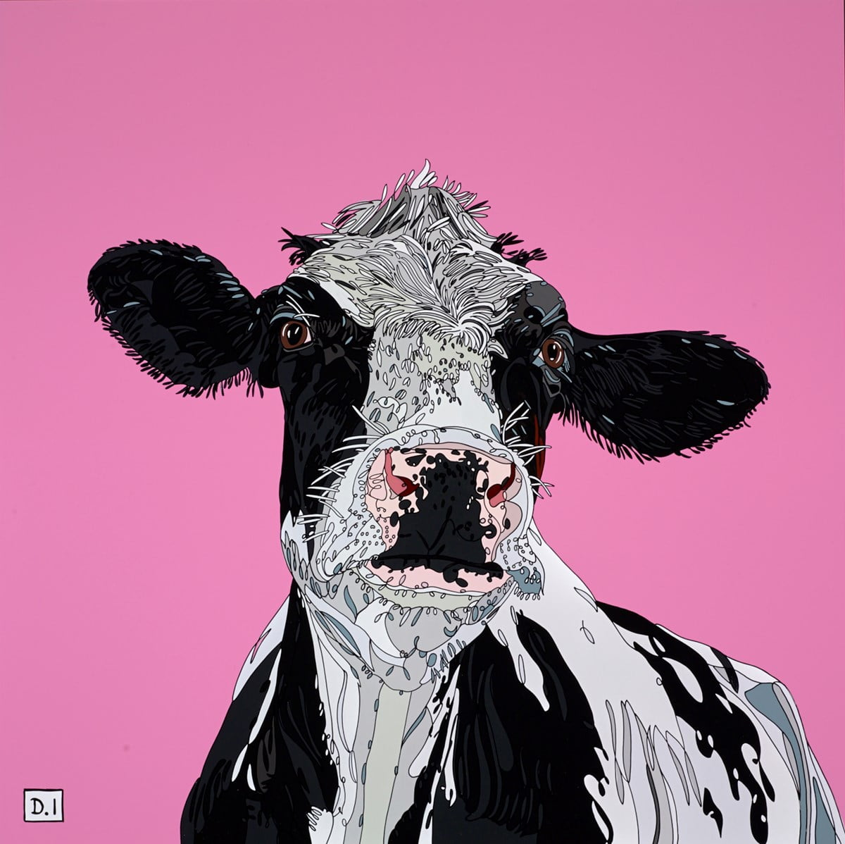 Cow on Pink ~ Dylan Izaak