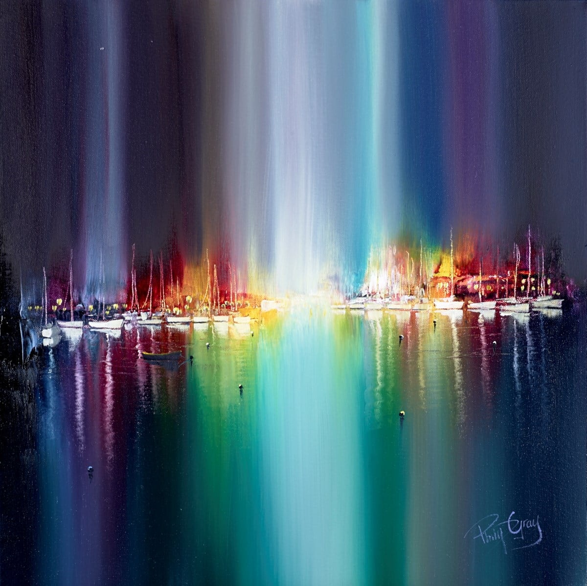 View of the Harbour Lights ~ Philip Gray