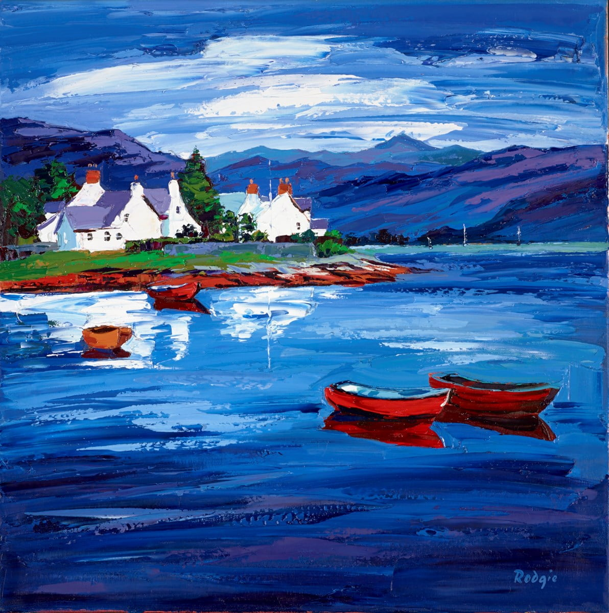 Sitting in Plockton Bay ~ Lynn Rodgie