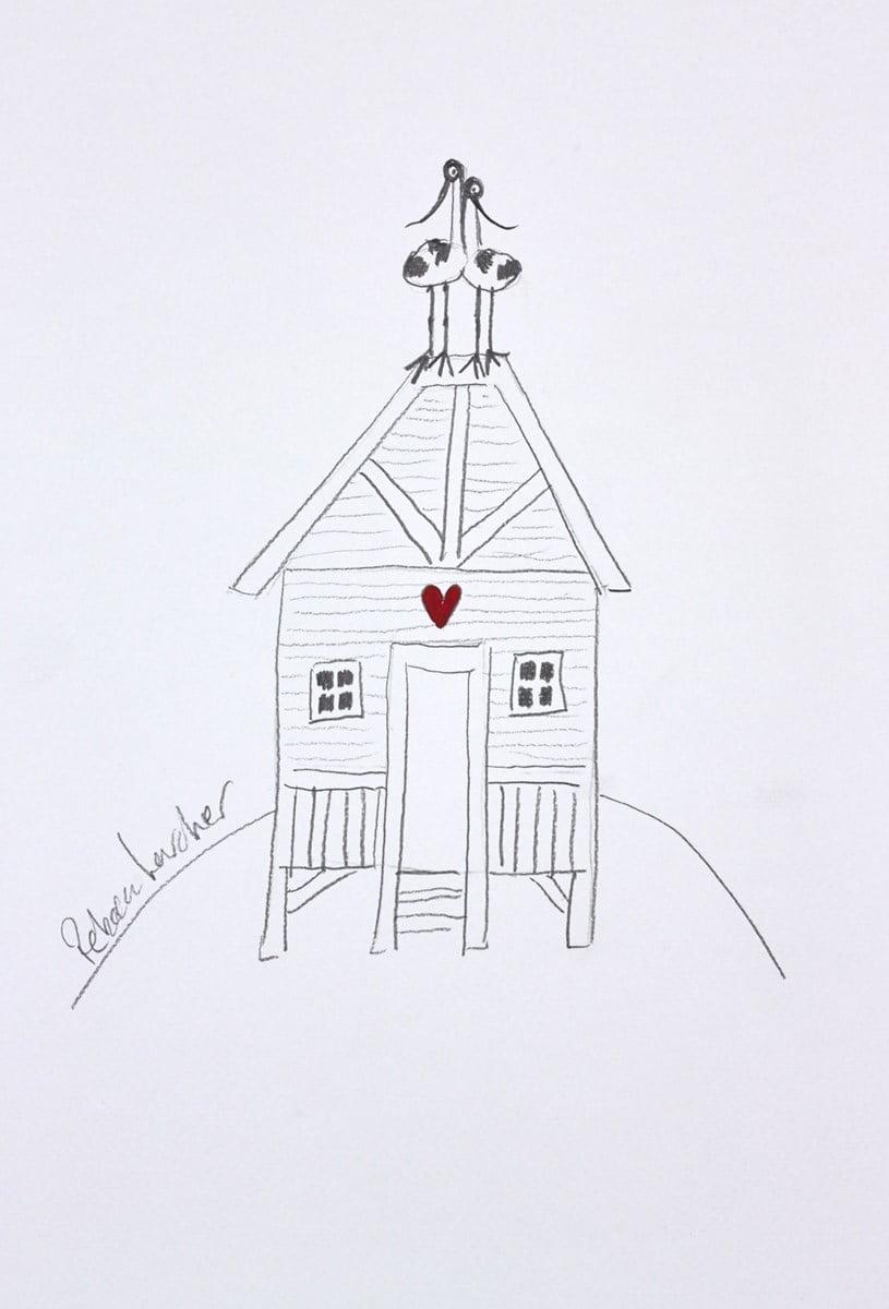 Two Lovebirds Sketch II ~ Rebecca Lardner