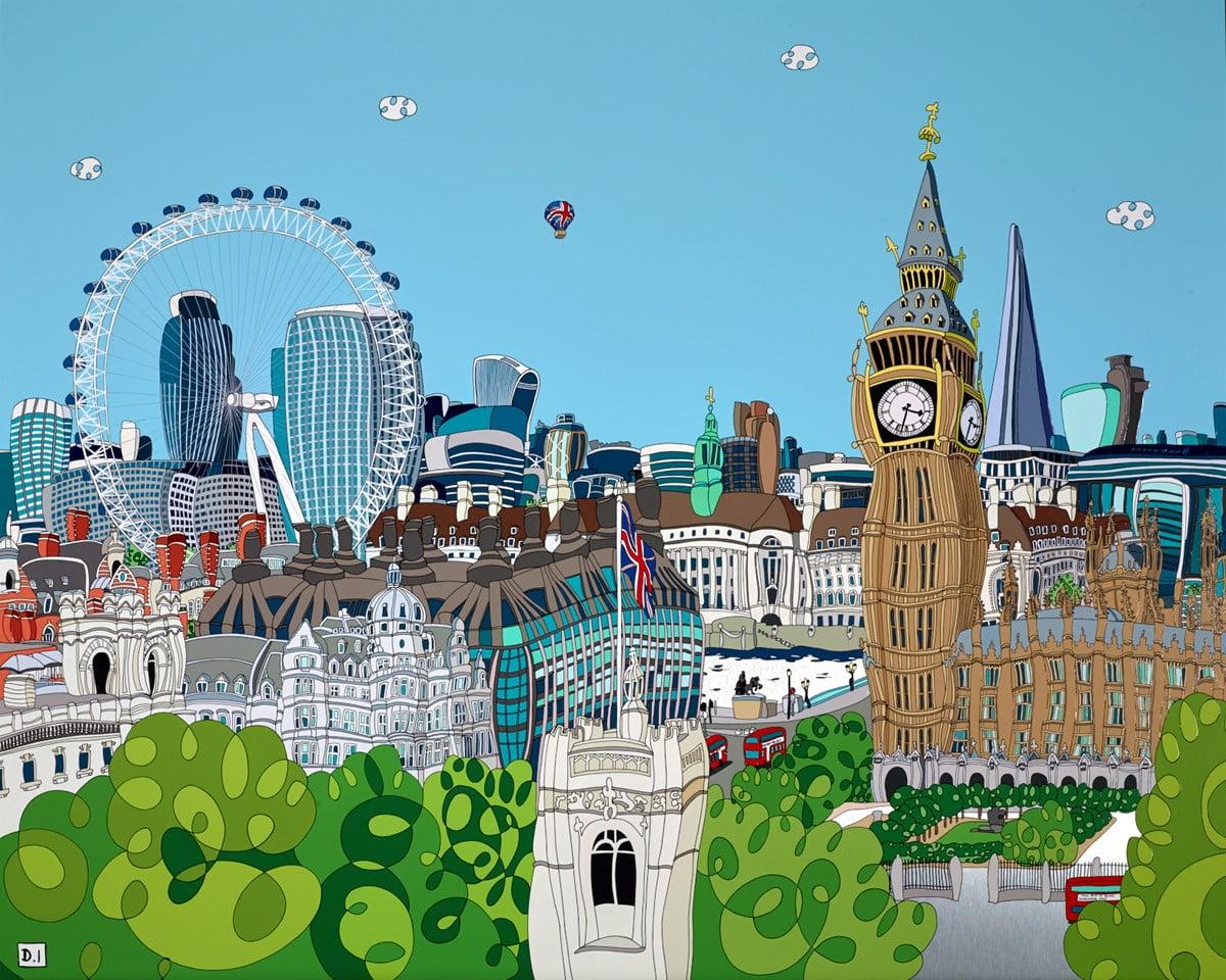 Birds Eye of Big Ben and the Shard ~ Dylan Izaak