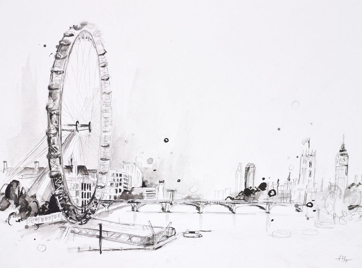 London Eye Sketch II ~ Anna Gammans
