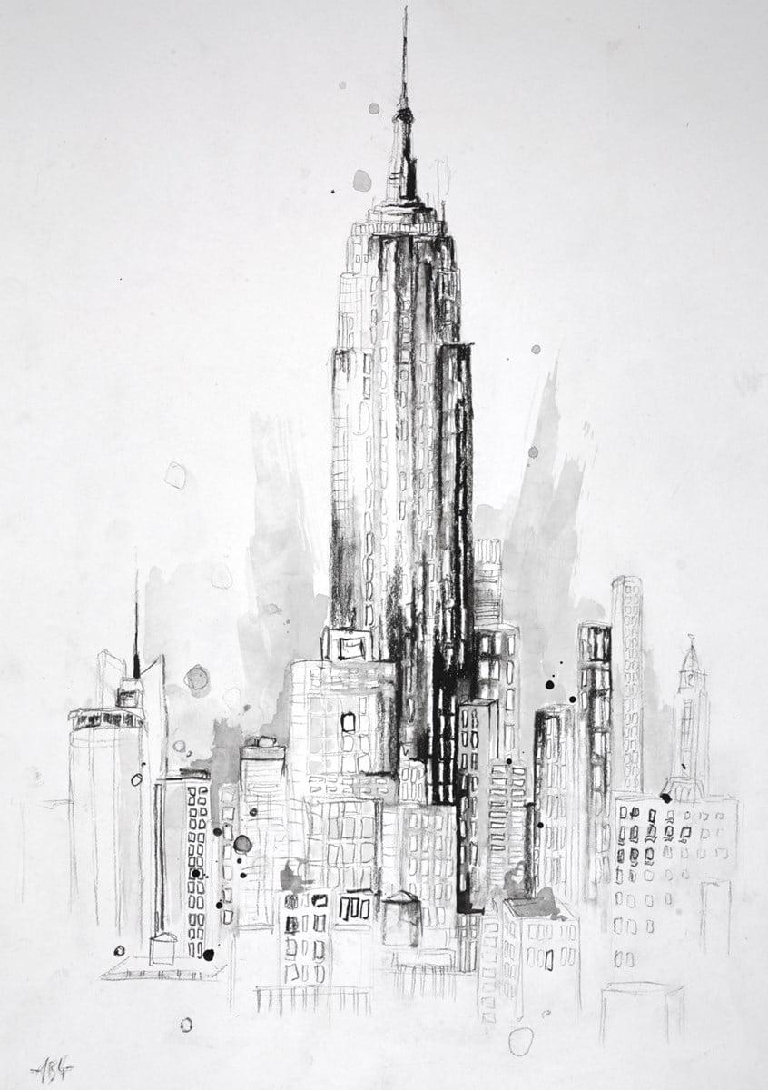 Empire State Building, New York Sketch ~ Anna Gammans
