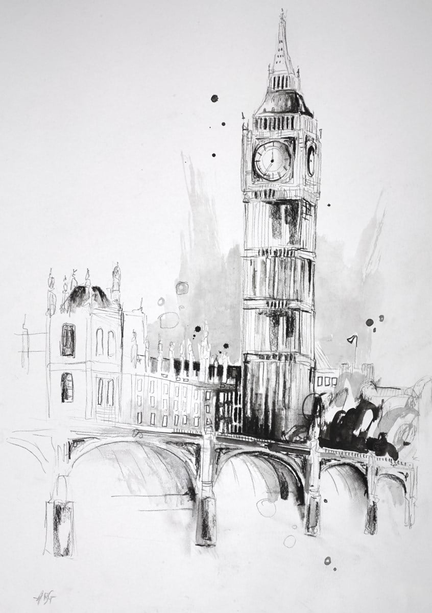 Houses of Parliament Sketch IV ~ Anna Gammans