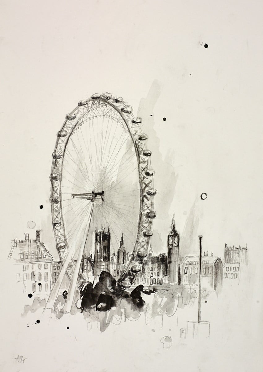 London Eye Sketch IV ~ Anna Gammans