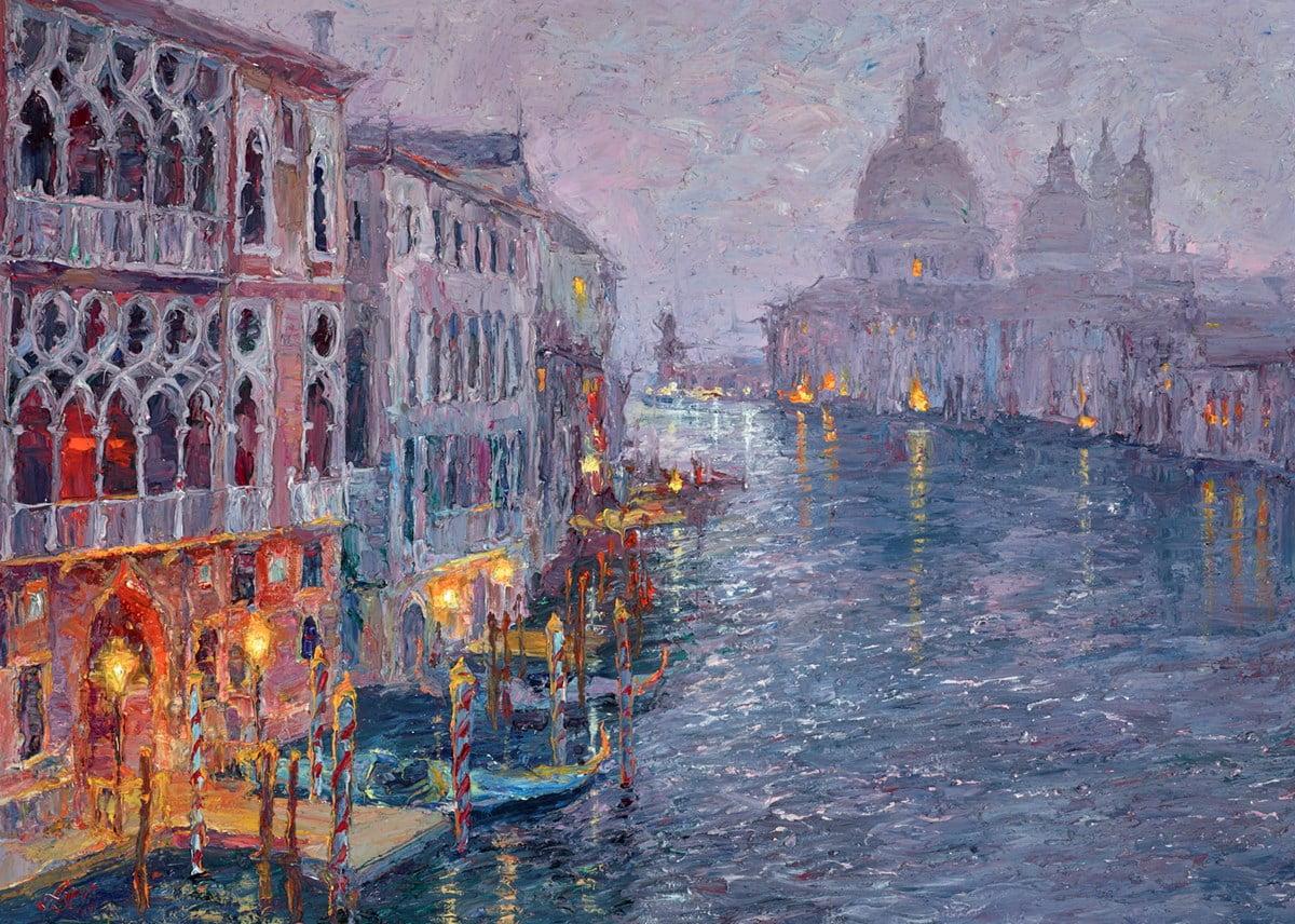 Dusk, Grand Canal, Venice ~ Lana Okiro