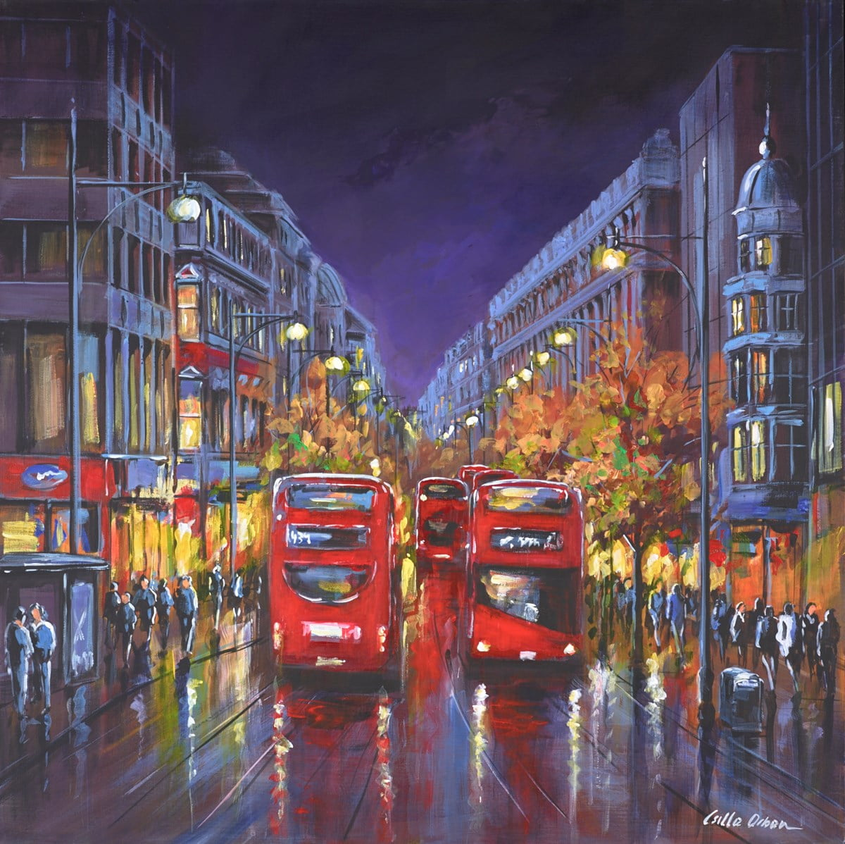 Oxford Street, London at Night ~ Csilla Orban