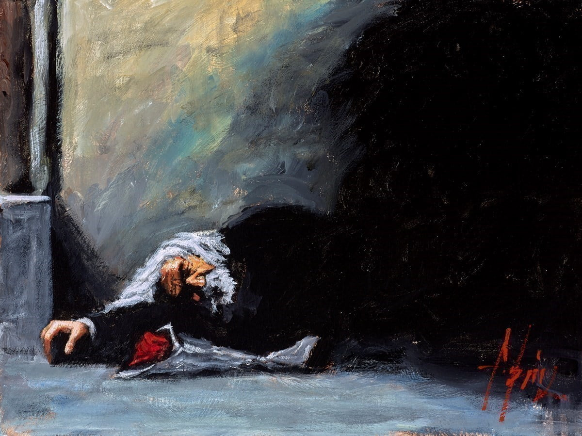 Study for Waiting for the Romance to Come Back II (With Red Roses) ~ Fabian Perez