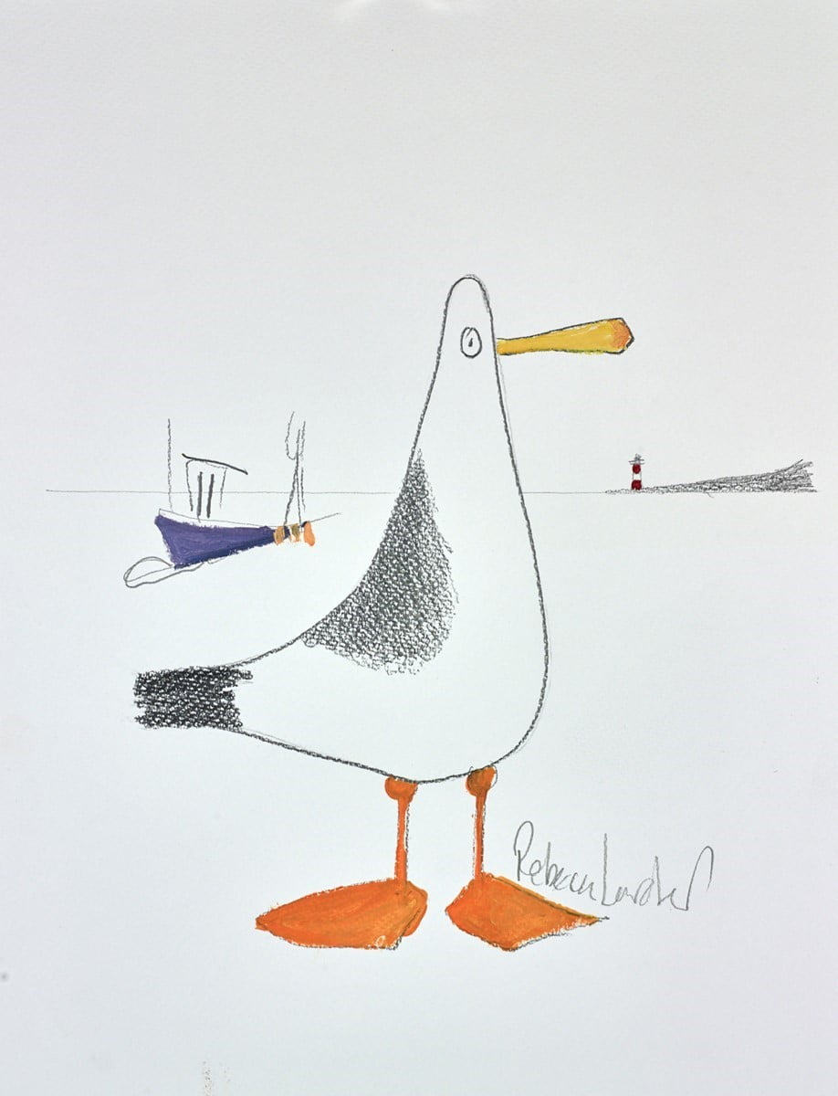 Beach Bird Sketch IV ~ Rebecca Lardner