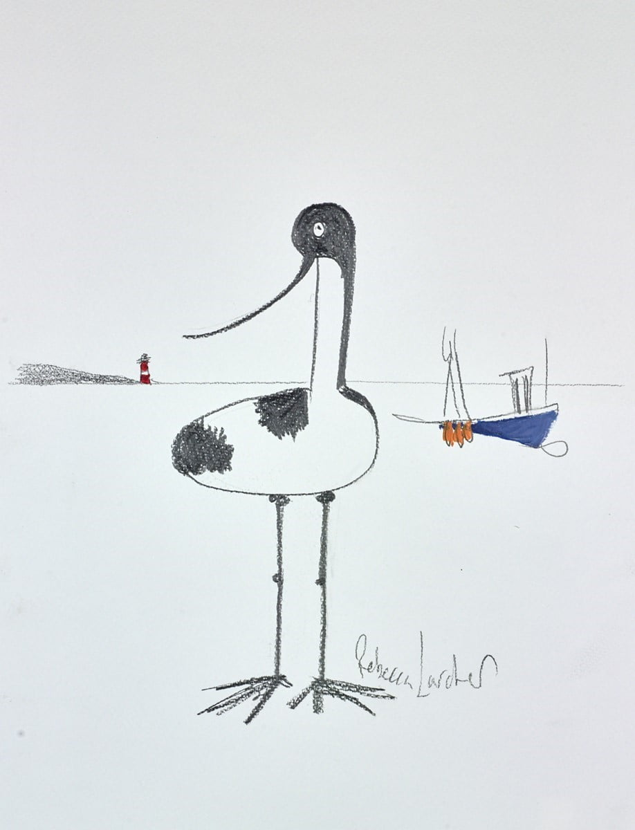 Beach Bird Sketch VI ~ Rebecca Lardner